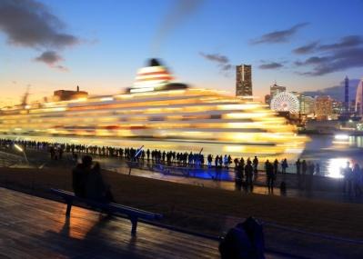 豪華客船と横浜・港町の風景を楽しみながら、最高の乾杯を!