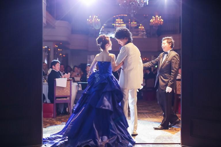 結婚式 お姫様 ブルー