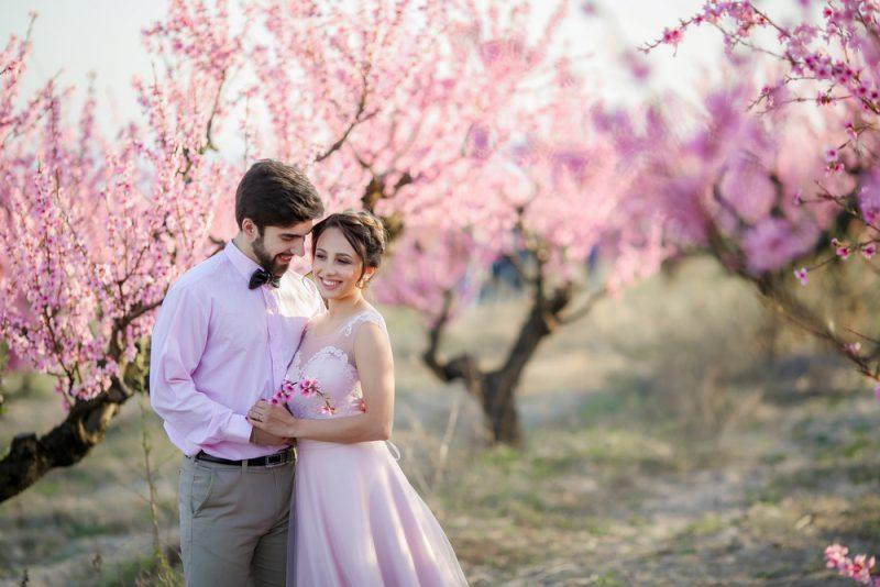春 結婚式 ロケーション