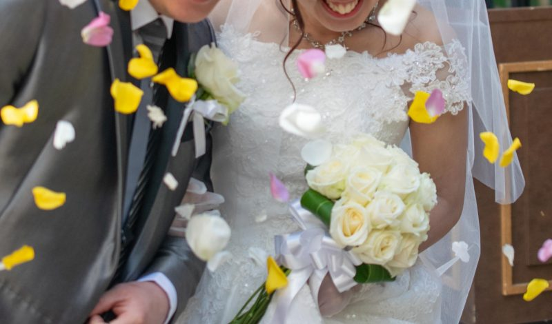結婚式フラワーシャワー