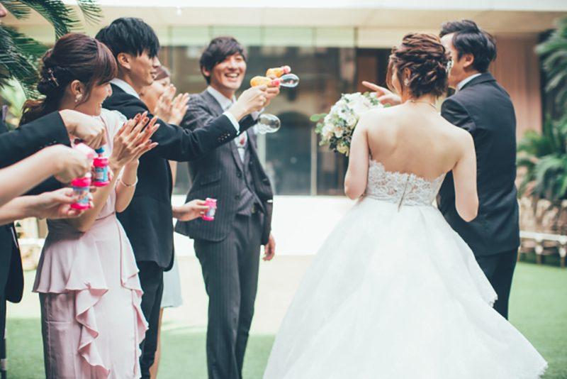 バブルシャワー結婚式