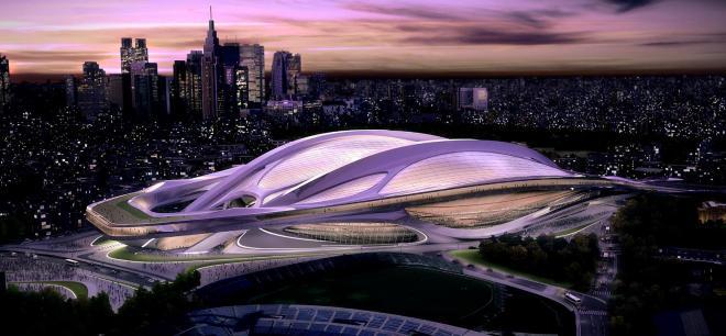 2013年3月時点の新国立競技場案=日本スポーツ振興センター提供:出典・朝日新聞