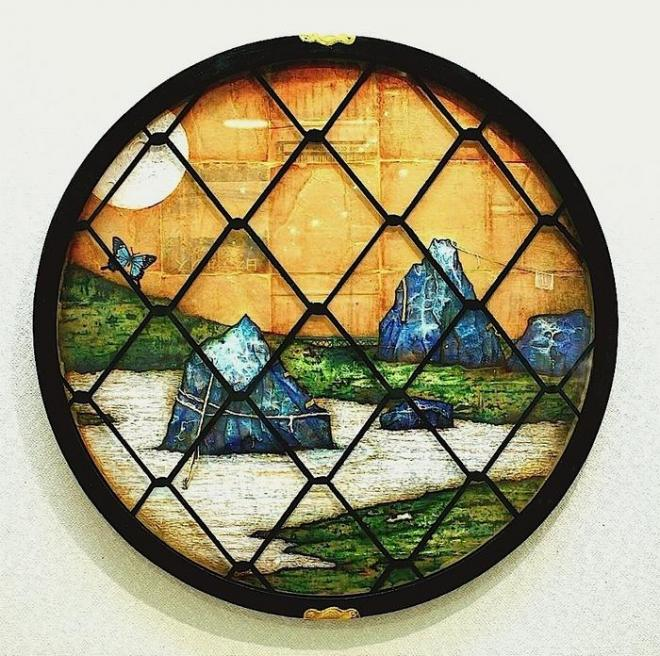 澁谷蒼茶室枯山水之図(吉野窓)©ATSUSHI WATANABE