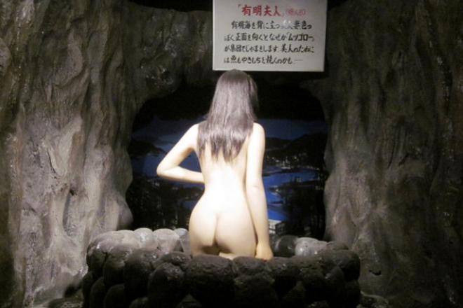 閉館した嬉野武雄観光秘宝館の「有明夫人」。北海道大特任助教の妙木忍さん提供