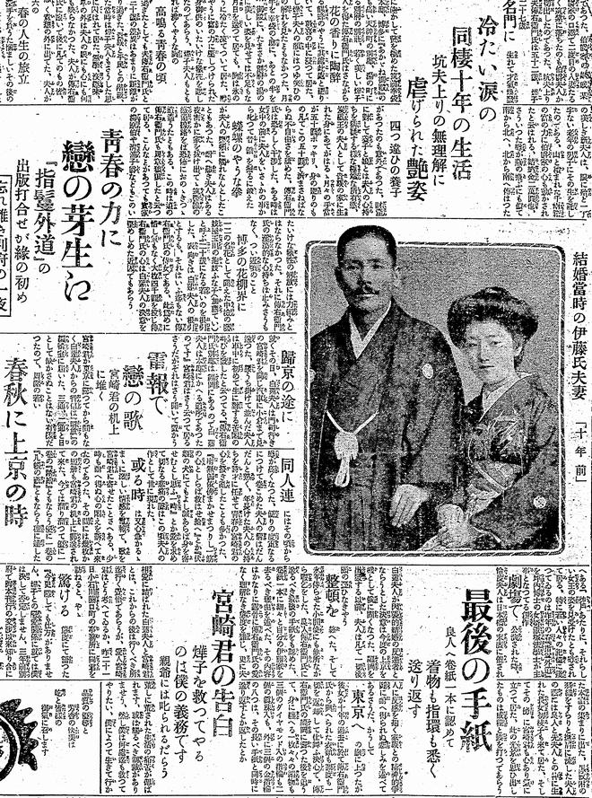 白蓮事件を伝える当時の新聞