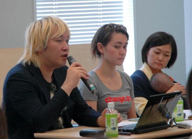 ジャーナリストの津田大介さん(左)も参加した