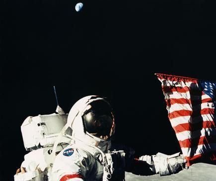 1972年、月面に降り立ったジーン・サーナン飛行士(NASA提供)