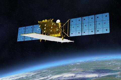 地球観測衛星「だいち2号」のイメージ(JAXA提供)