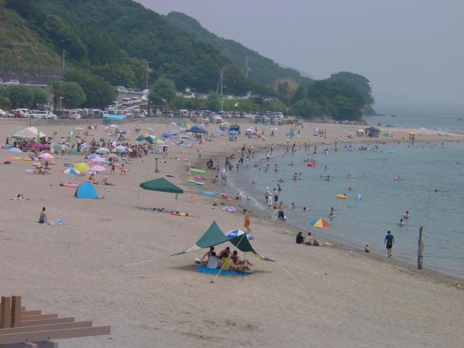 快水浴場百選に選ばれた大砂海水浴場=2006年6月20日
