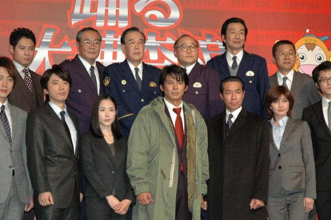 映画「踊る大捜査線3」の製作発表=2010年2月23日