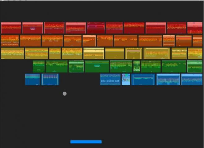 グーグル画像検索画面で「atari breakout」と入力すると、なぜか検索結果の画像がブロックになってブロック崩しが始まる
