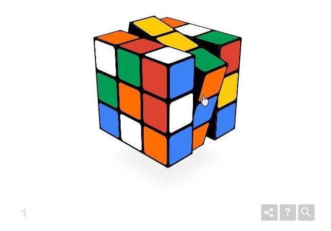 ルービックキューブも。リンク先の画面でキューブをクリックまたはタップしてみよう(パソコンとタブレット)