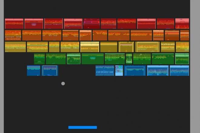 グーグル画像検索で「atari breakout」とするとブロック崩しが始まる