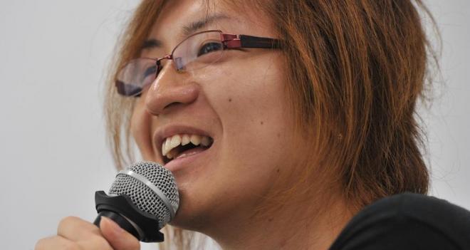 「ニート株式会社」を設立した若新雄純さん=東京・日本橋、仙波理撮影