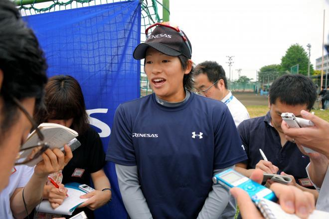 上野由岐子投手=2013年5月30日
