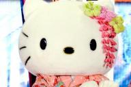 世界的な人気キャラになったサンリオの「キティ」。2013年12月20日撮影