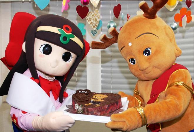 同業キャラから「本命チョコ」をもらえるまでに、人気が定着。よかったね!=2010年2月12日