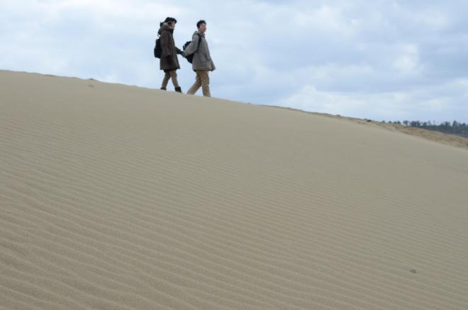 鳥取砂丘の風紋=2014年2月13日