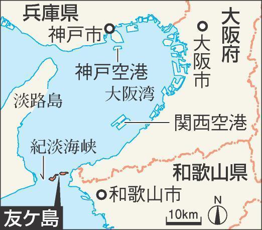 大阪湾の南端に浮かぶ友ケ島