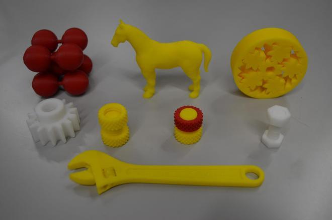 3Dプリンターでつくった製品=2014年1月15日