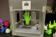 家庭向け3Dプリンターでつくった立体物=2014年3月23日