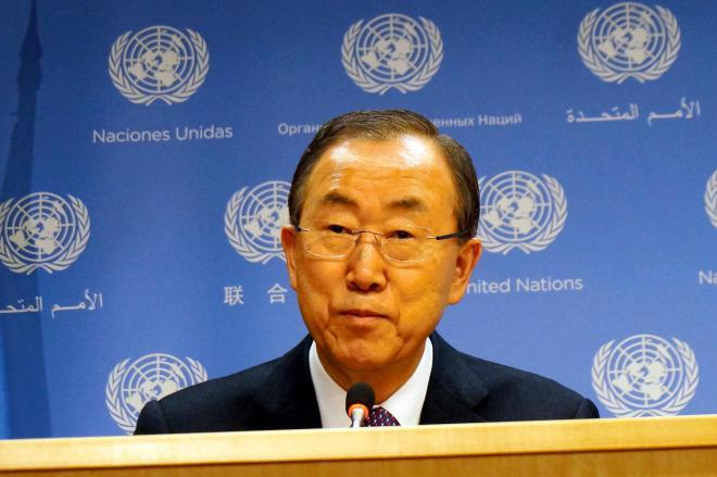 潘基文(パン・ギ・ムン)・国連事務総長=2013年12月23日