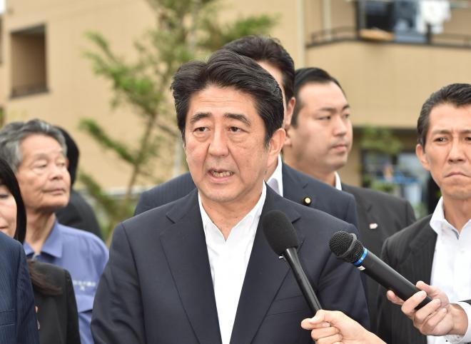 安倍晋三首相=2014年7月16日