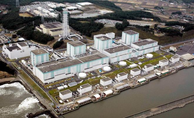 福島第二原子力発電所=2011年10月、朝日新聞社ヘリから