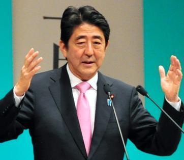 安倍晋三首相。山口県下関市で講演。7月19日、笹川翔平撮影