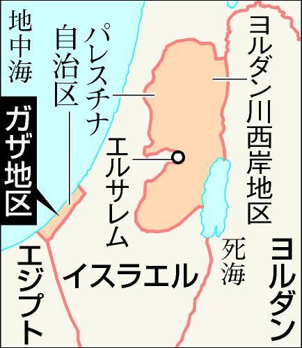 ガザ地区の地図
