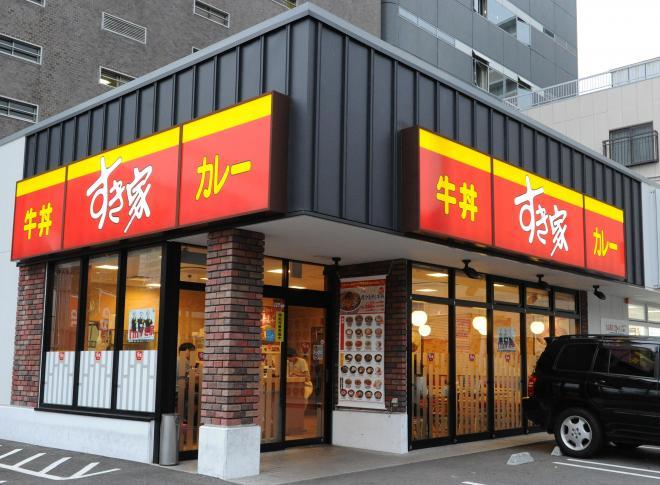 すき家の店舗。神戸市内