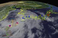 宇宙から眺めた台風のイメージを体験できる「台風リアルタイム・ウォッチャー」