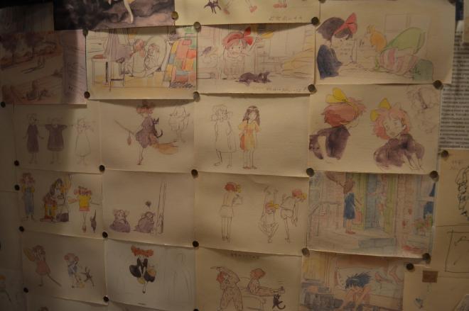 魔女の宅急便のために描かれた絵の数々。様々なタイプのキキがいる