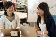 「10代女子に教わる政治」に出演した北川幸恵さん(左)と町田彩夏さん