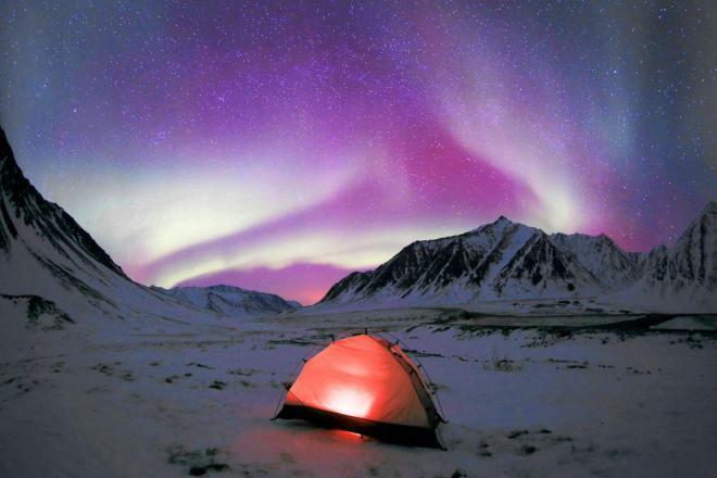 堀田東さん撮影、2014年3月28日2:28、米国アラスカ州ワイズマンで