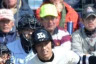 健大高崎―大阪桐蔭戦のラガーさん=2012年4月2日