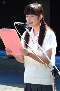 埼玉大会の開・閉会式では司会も務めた=2014年7月8日、県営大宮球場でのリハーサル