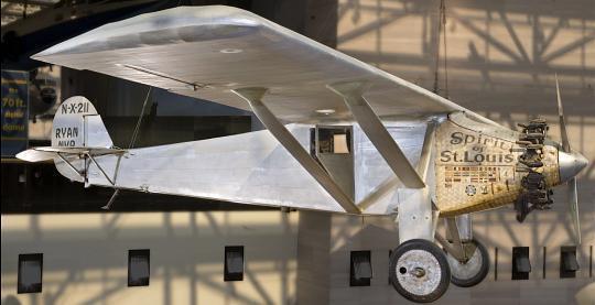 米国のスミソニアン航空宇宙博物館に展示されている「スピリット・オブ・セントルイス号」