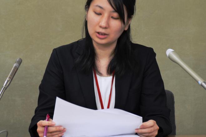 「たかのビューティークリニック」の不当労働行為などを説明する北村理美弁護士
