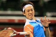 楽天ジャパンオープンに出場した錦織圭=2013年10月1日