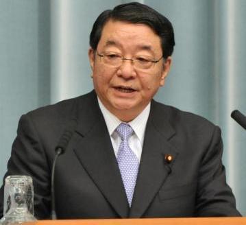 北朝鮮のミサイル発射を受け、会見する藤村修官房長官(当時)=2012年4月13日