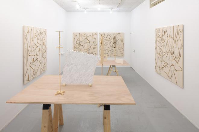 「P.I.C.K.U.P」展|2012年|大野綾子、戸谷森、深代満久|秋山画廊 会場風景 photo:Hayato wakabayashi
