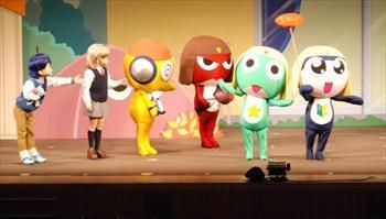 「ケロロ軍曹」のぬいぐるみ人形劇=2009年10月24日