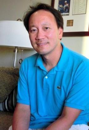 錦織のコーチに就任したマイケル・チャン氏。稲垣康介撮影。2013年12月23日