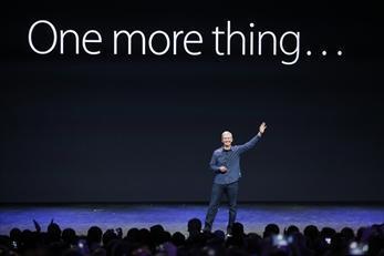 「One more thing...」。この後に「アップルウオッチ」が登場