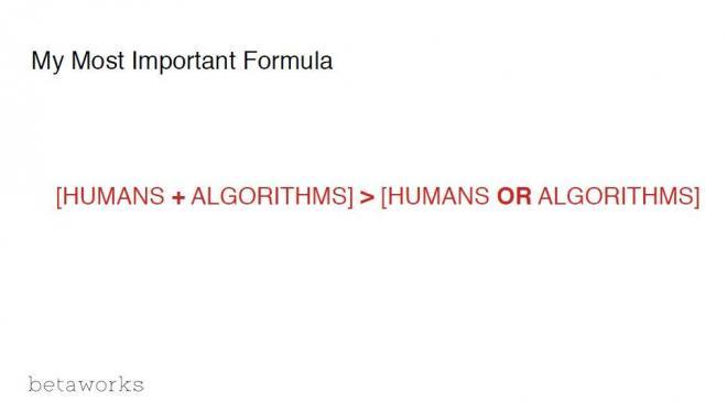 マクローリン氏が信じる最も重要な公式「人間+アルゴリズム>人間またはアルゴリズム」