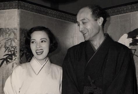 彫刻家のイサム・ノグチとの結婚披露宴、1951年