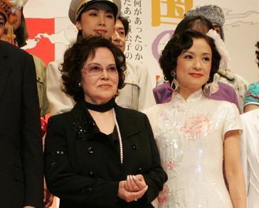 劇団四季の「昭和の歴史三部作」製作発表。李香蘭役の野村玲子さんと、2005年