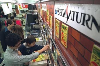 セガサターンのソフト売り場=1997年1月23日