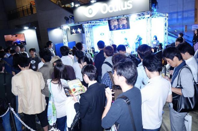「オキュラス・リフト」の展示コーナー